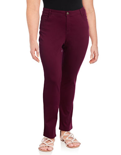 Style And Co. Plus Tummy Slimming Jeans-SCARLET-22W
