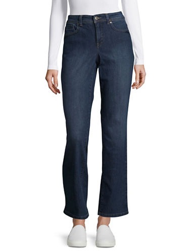Style And Co. Rail Tummy Straight Jeans-BLUE-14