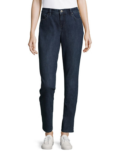 Style And Co. Curvy Tummy Skinny Jeans-BLUE-18