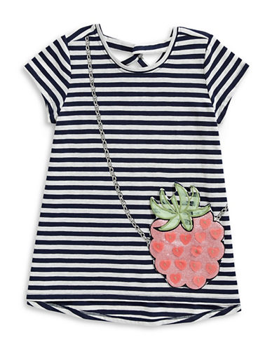 Jessica Simpson Juniper Patriot Striped Dress-BLUE-Medium