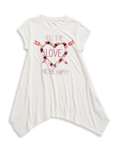 Jessica Simpson Love Gard Tee-WHITE-Small