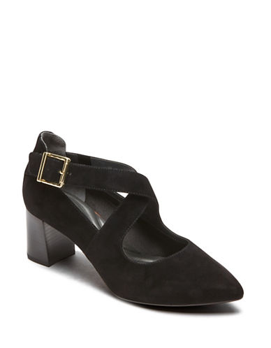 Rockport Salima Suede Mary Janes-BLACK SUEDE-7.5