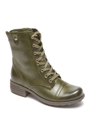 Rockport Cobb Hill Bethany Lace-Up Boots-GREEN-11