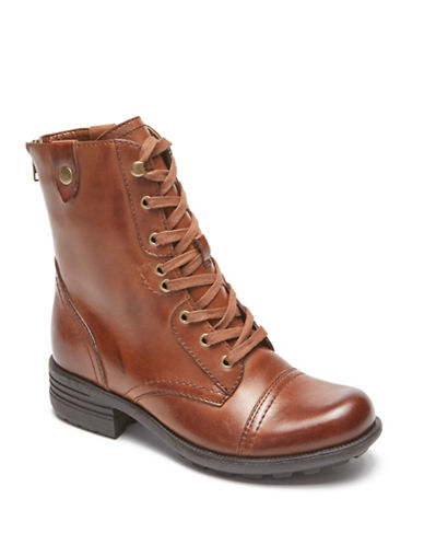 Rockport Cobb Hill Bethany Lace-Up Boots-ALMOND-7