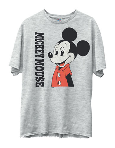 Junk Food Mickey Mouse Original Tee-GREY-Large