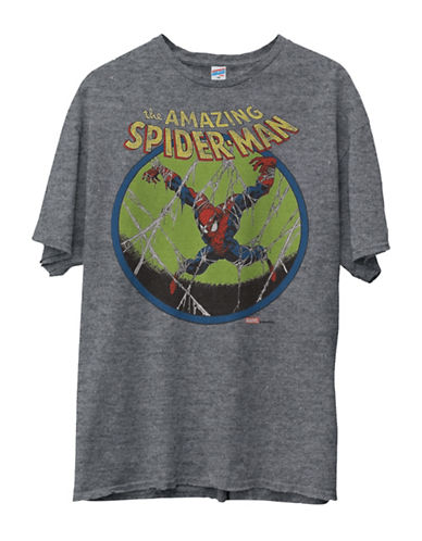 Junk Food The Amazing Spiderman Original Tee-GREY-Large