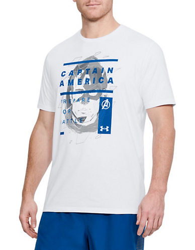 Under Armour Captain America Cotton Tee-WHITE-Large 90063079_WHITE_Large