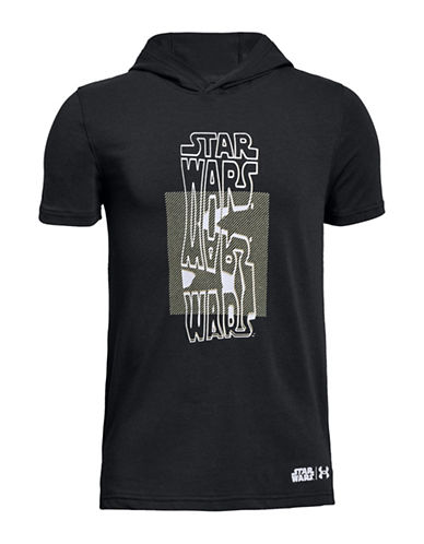 Under Armour Star Wars Graphic Short-Sleeve Hoodie-BLACK-Large 90034825_BLACK_Large