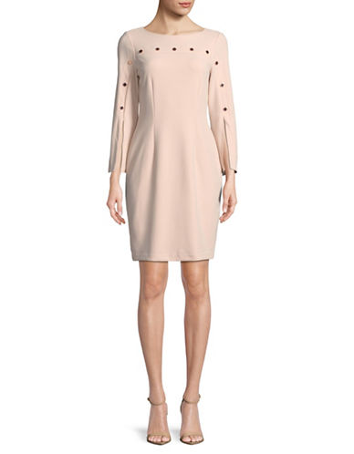 Ivanka Trump Split Sleeve Shift Dress-PINK-10