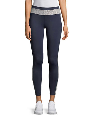 Ivanka Trump Mesh-Panelled Leggings-NAVY-X-Small