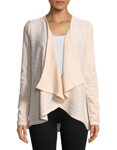 Ivanka Trump Fly Away Textured Cardigan-BLUSH-X-Large