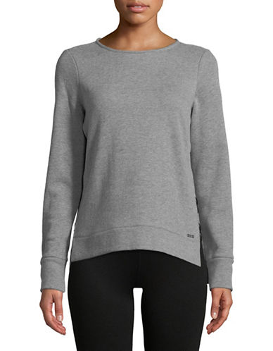 Ivanka Trump Side Slit Sweatshirt-GREY-Large