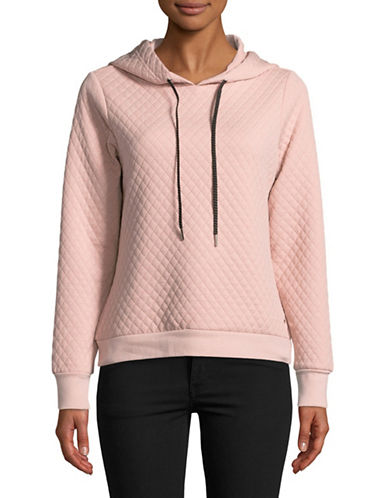 Ivanka Trump Diamond Quilted Sweatshirt-PINK-X-Large