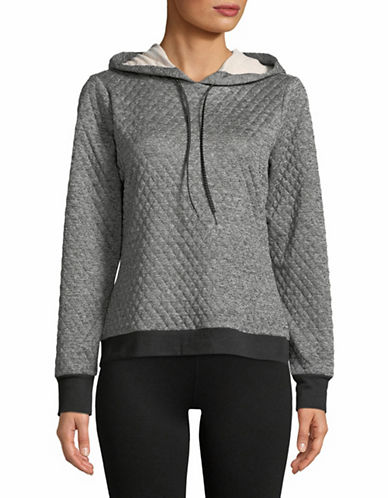 Ivanka Trump Diamond Quilted Sweatshirt-GREY-Large