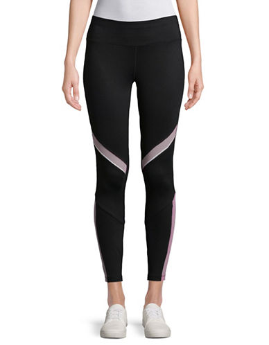 Ivanka Trump Colourblock Leggings-BLACK-X-Small 89597511_BLACK_X-Small