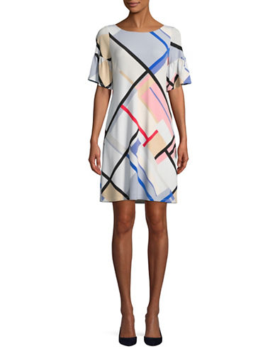 Ivanka Trump Picnic Plaid Shift Dress-MULTI-Medium