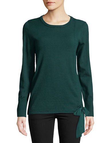 Ivanka Trump Bow -Tie Pullover Top-GREEN-Small