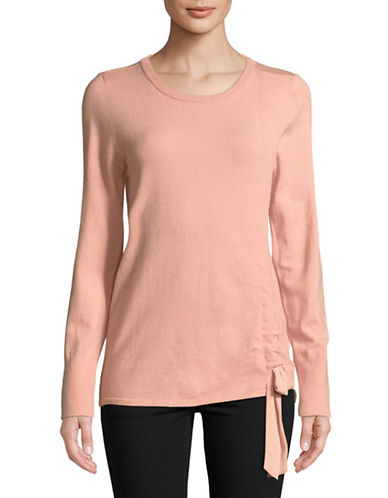 Ivanka Trump Bow -Tie Pullover Top-PINK-X-Small