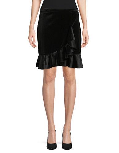 Ivanka Trump Velvet Swing Skirt-BLACK-8