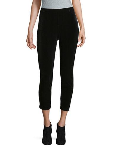 Ivanka Trump Velvet Leggings-BLACK-Medium 89598852_BLACK_Medium