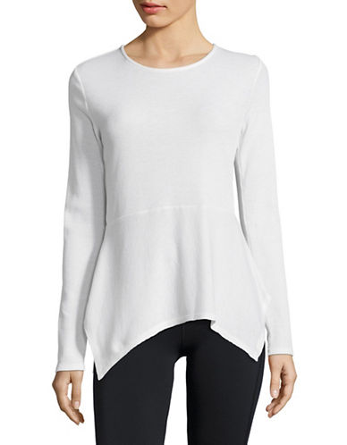 Ivanka Trump Flutter Hem Active Top-WHITE-Medium