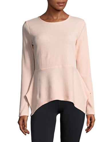 Ivanka Trump Flutter Hem Active Top-PINK-X-Large