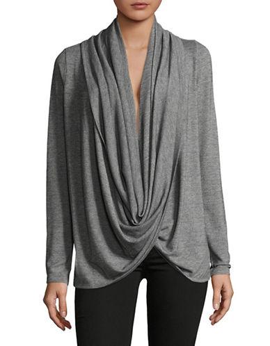 Ivanka Trump Cowl Neck Sweater-GREY-Large