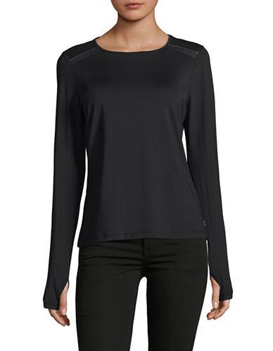 Ivanka Trump Shoulder Detail Sweater-BLACK-Medium