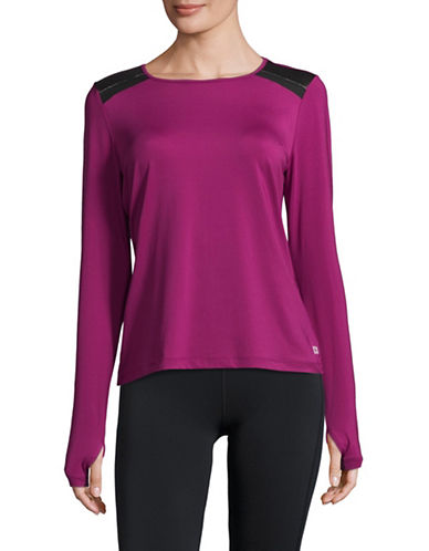 Ivanka Trump Shoulder Detail Sweater-BERRY-X-Large