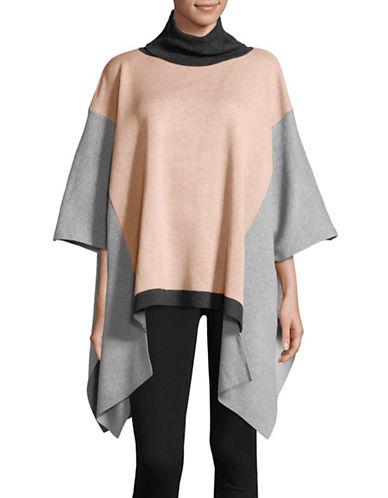 Ivanka Trump Colourblocked Cape Sweater-PINK-X-Small/Small