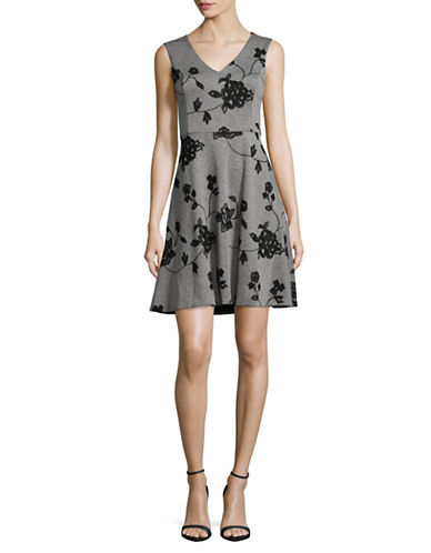 Tommy Hilfiger Embroidered Fit-And-Flare Dress-GREY-6