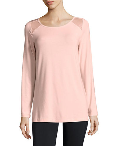 Ivanka Trump Chic Long-Sleeve Tee-PINK-Large