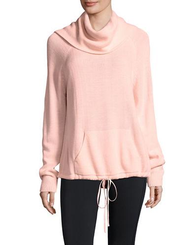 Ivanka Trump Cowl Neck Sweater-PINK-Large