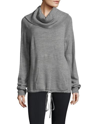 Ivanka Trump Cowl Neck Sweater-GREY-X-Small