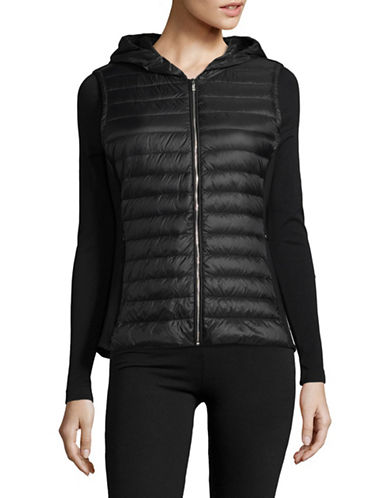 Ivanka Trump Quilted Zip Vest-BLACK-X-Large