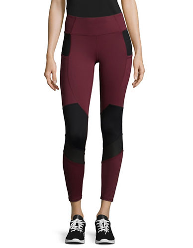 Ivanka Trump Stretch Leggings-RED-X-Large