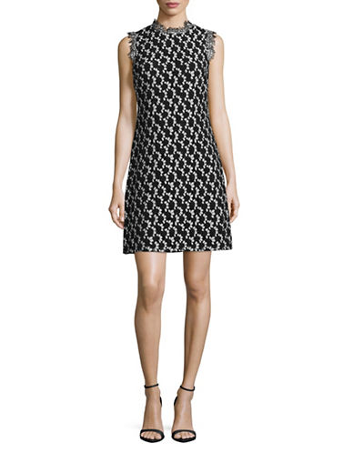Tommy Hilfiger Two-Tone Lace Shift Dress-BLACK/IVORY-12