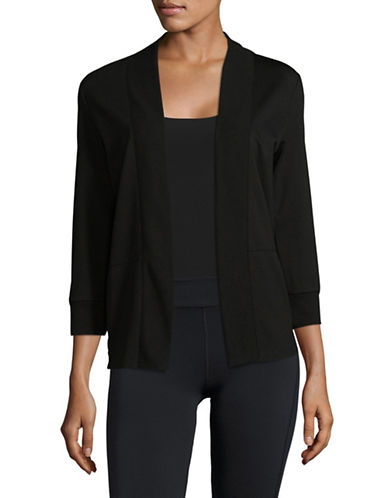 Ivanka Trump Open Cardigan-BLACK-X-Large