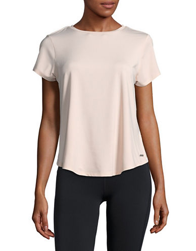 Ivanka Trump Open Back T-Shirt-PINK-X-Large