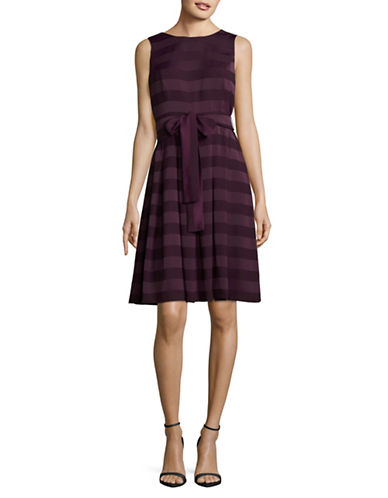 Tommy Hilfiger Striped Crew Neck Dress-PINOT-12