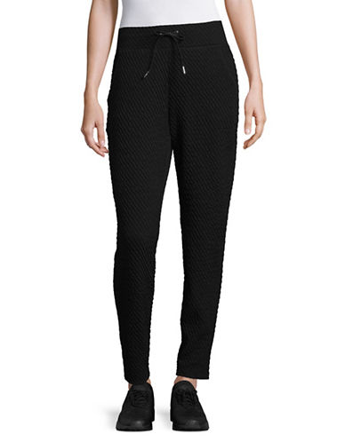 Ivanka Trump Textured Pants-BLACK-Medium 89486224_BLACK_Medium