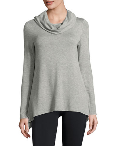 Ivanka Trump Cowl Neck Pullover-GREY-X-Large