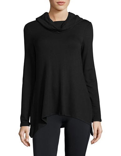 Ivanka Trump Cowl Neck Pullover-BLACK-X-Large