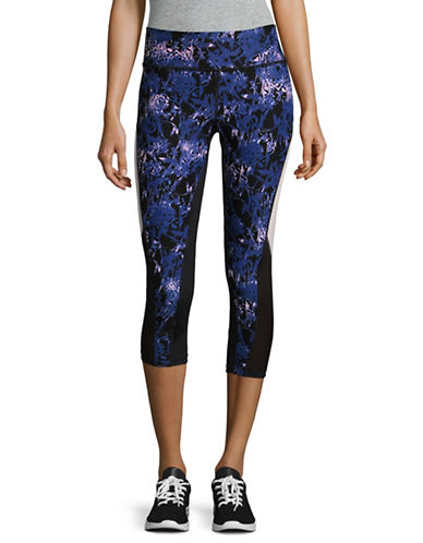 Ivanka Trump Mesh Side Panel Leggings-MULTI-Medium