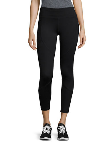 Ivanka Trump Ruffle Detail Leggings-BLACK-X-Large