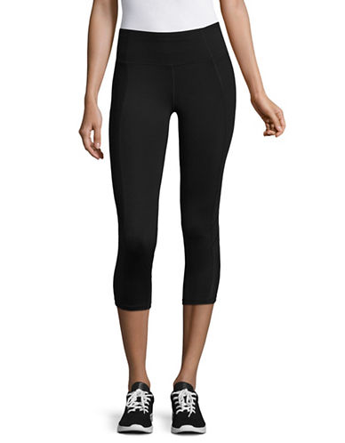 Ivanka Trump Classic Capri Leggings-BLACK-Medium
