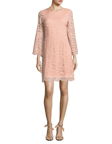 Ivanka Trump Lace Mini Dress-PINK-12