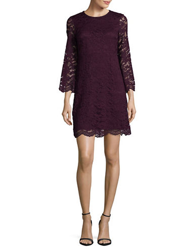 Ivanka Trump Lace Mini Dress-RED-12