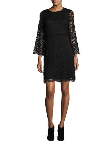 Ivanka Trump Lace Mini Dress-BLACK-8