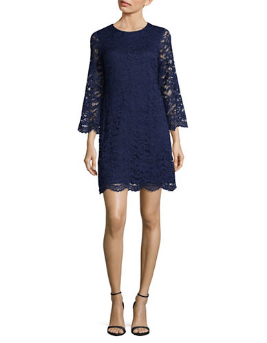 Ivanka Trump Lace Mini Dress-BLUE-2